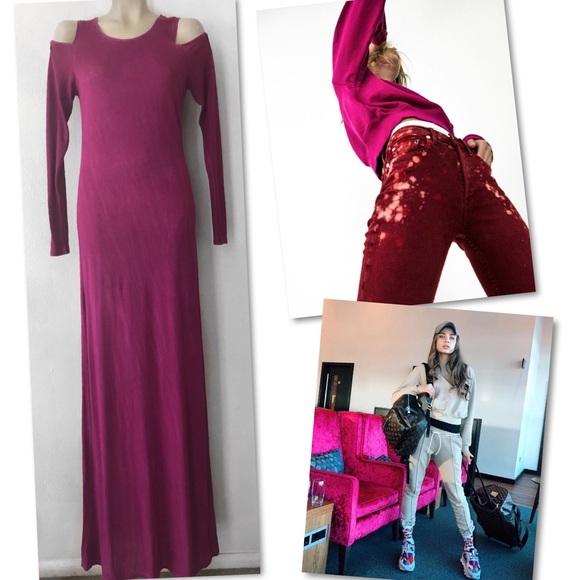 Cotton Citizen Dresses & Skirts - 🆕 COTTON CITIZEN COLD SHOULDER LS MAXI DRESS S